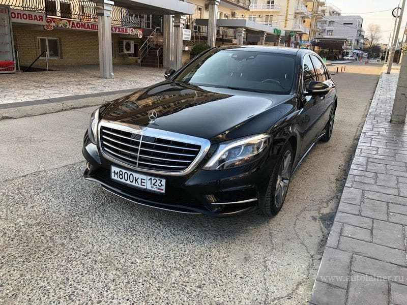 Mercedes S-класс W222 (черный, 2014)